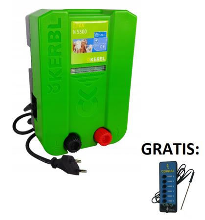 ELEKTRYZATOR KERBL TITAN N5500  plus   -  TESTER COLRRAL 6zakresowy - Gratis