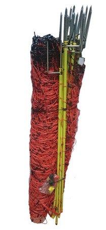 Siatka elektryczna dla owiec OVINET 50m 108cm, pomarańczowa podwójny szpic