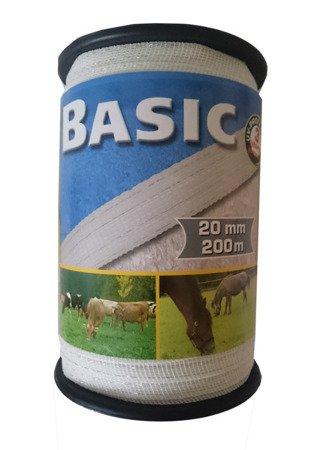 Taśma BASIC 4x0,16mm niro; 20mm 200m 90kg biała