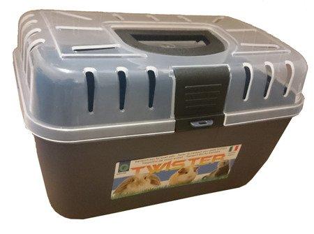Transporter Twister 29x19x18cm szaroniebieski