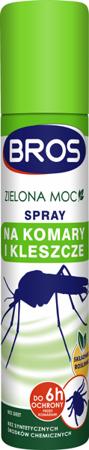 Zielona Moc Spray na komary i kleszcze 90ml (zielony)